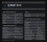 Element3d v2 HotKeys